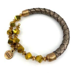 Alex & Ani Radiant Gold Splendor Leather Bracelet